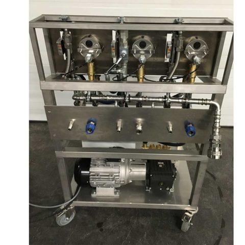 banc d'essai eau haute pression